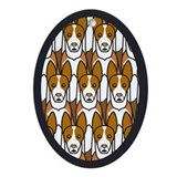 Ibizan Hounds Oval Ornament