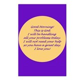 Good Morning from God Postcards (Package of 8)