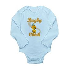 Rugby Chick #2 Long Sleeve Infant Bodysuit