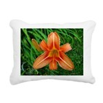 .orange daylily. Rectangular Canvas Pillow