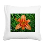 .orange daylily. Square Canvas Pillow