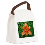 .orange daylily. Canvas Lunch Bag