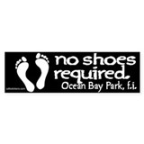 "No Shoes Required ""Ocean Bay Park"" Bumper Sticker"