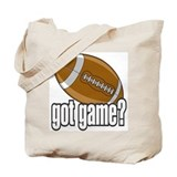 Got Game? Football Tote Bag
