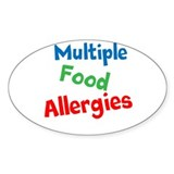 Multiple Food Allergies Decal