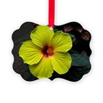 .yellow hibiscus. Picture Ornament