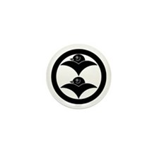 Two wild geese in circle Mini Button (100 pack)