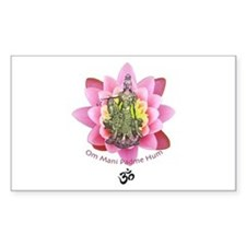 Kuan Yin Mantra Rectangle Decal