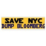 Save NYC Bumper Sticker Bumper Sticker
