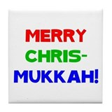Merry Chrismukkah Tile Coaster