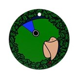 Green Parrotlet Wreath Christmas Ornament