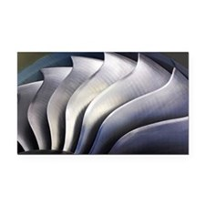 S-curve fan blades - Car Magnet
