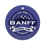 Banff Natl Park Midnight Ornament (Round)