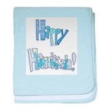 Happy Hanukkah baby blanket