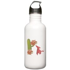 CACTUS FLOWER AND COYOTE Water Bottle