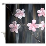 Modern Cherry Blossom Abstract Shower Curtain