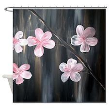 Modern Cherry Blossom Shower Curtain