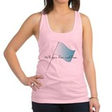 Colorguard Will spin for coffee Racerback Tank Top