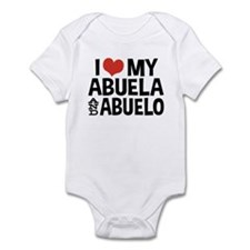 I Love My Abuela and Abuelo, Infant Bodysuit