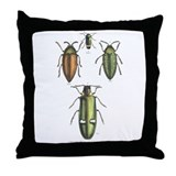 Beetle Insects Throw Pillow