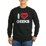 I Heart Geeks Long Sleeve Dark T-Shirt