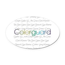 Colorguard Oval Car Magnet