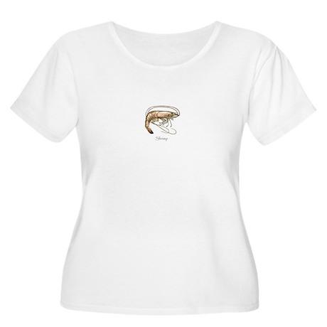 Shrimp Logo Women's Plus Size Scoop Neck T-Shirt