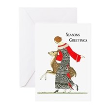 Art Deco Deer Christmas Cards 20PK