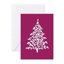 Raven Christmas tree Greeting Cards (Pk of 10)