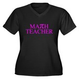 Math Teacher Pi Women's Plus Size V-Neck Dark T-Sh