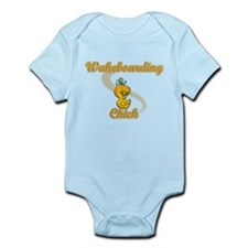 Waterboarding Chick #2 Infant Bodysuit