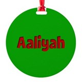 Aaliyah Green and Red Round Ornament