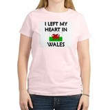 I Left My Heart In Wales Women's Pink T-Shirt