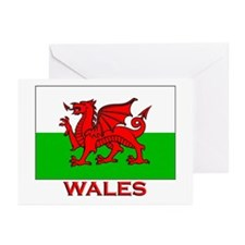 Wales Flag Gear Greeting Cards (Pk of 10)