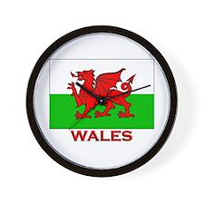 Wales Flag Gear Wall Clock