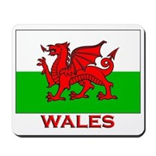 Wales Flag Gear Mousepad