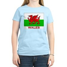 Wales Flag Gear Women's Pink T-Shirt
