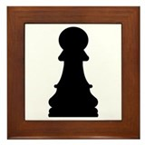 Chess pawn Framed Tile