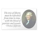 Thomas Jefferson Rectangle Decal