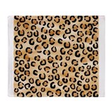 Leopard Print Pattern. Throw Blanket