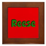 Reese Red and Green Framed Tile