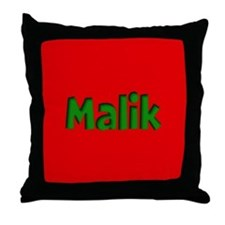 Malik Red and Green Throw Pillow
