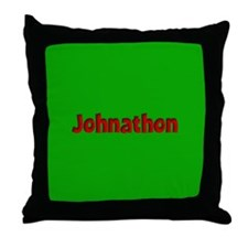 Johnathon Green and Red Throw Pillow