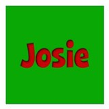 "Josie Green and Red Square Car Magnet 3"" x 3"""