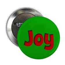 """Joy Green and Red 2.25"""" Button"""