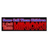 Children Are Minions Design Bumper Sticker
