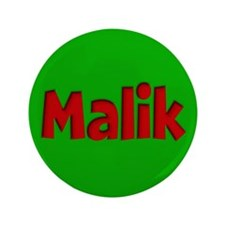 "Malik Green and Red 3.5"" Button"