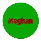 Meghan Green and Red Round Car Magnet