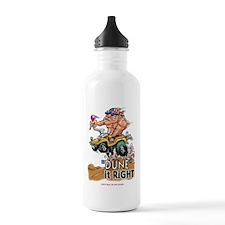"""Dune It Right"" Dune Buggy Cartoon Water Bottle"