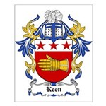 Keen Coat of Arms Small Poster